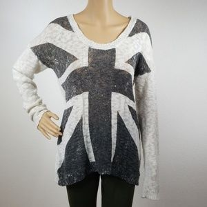 Charlotte Russe Sweaters - Charlotte Russe British Flag Knitted Sweater L5